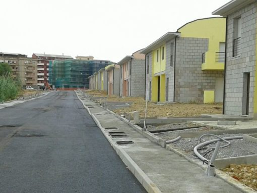 Opere di urbanizzazione nella Via Roux a Carbonia